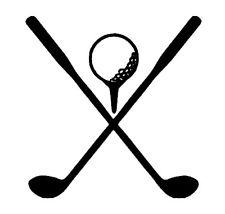 Golf ball and club clipart