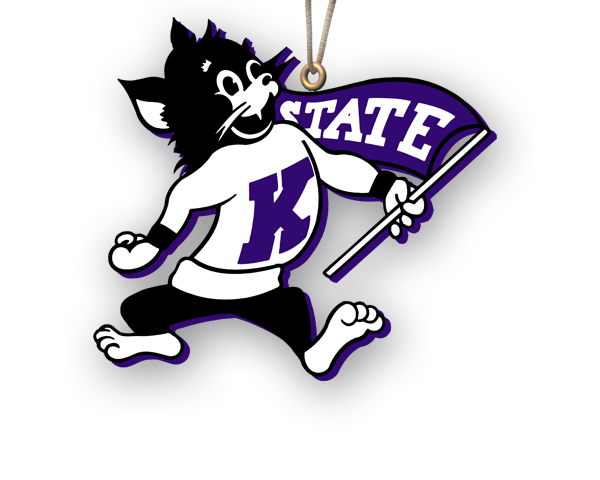K State Wildcat Logo Outline
