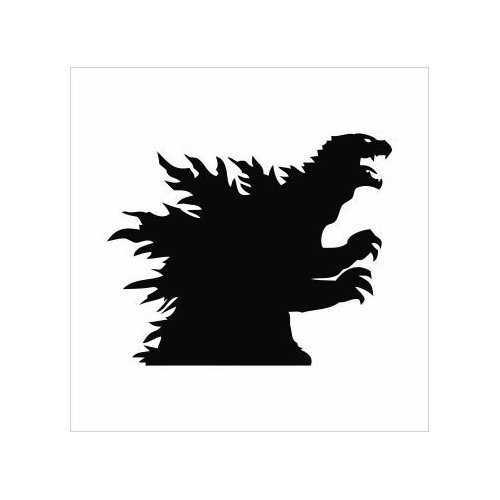 ... Godzilla Silhouette Logo Sticker Vinyl Decals - ClipArt Best - ClipArt
