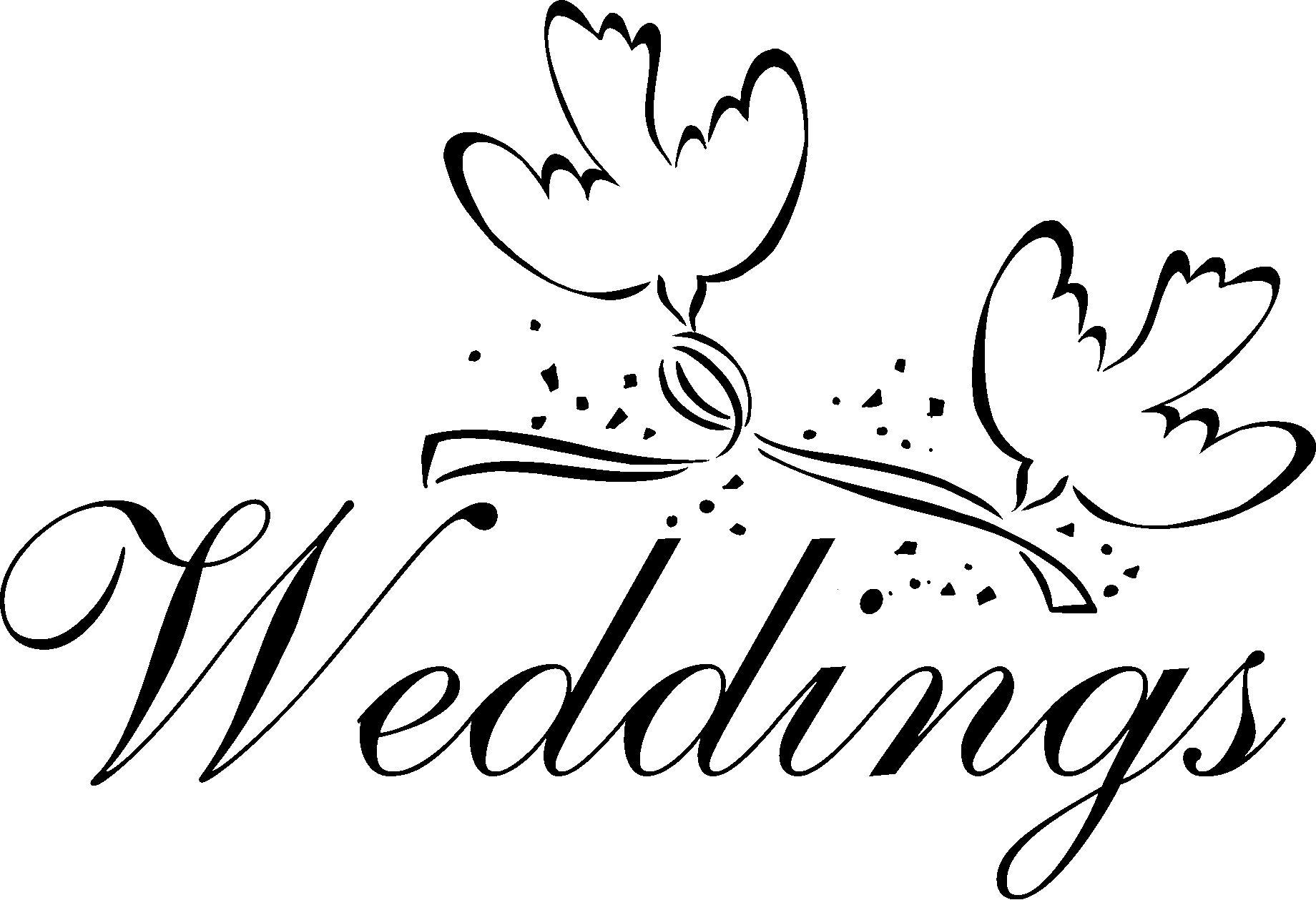 Wedding Card Design Line Art : Wedding doves clipart best