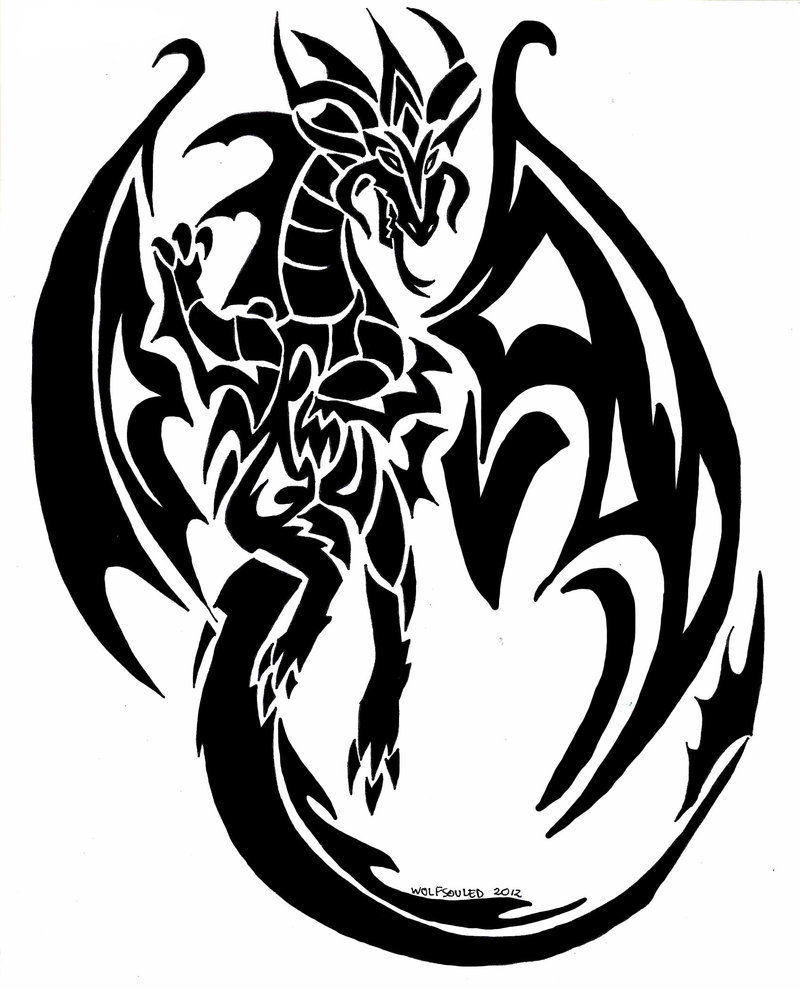 tribal dragon tattoo clipart best. Black Bedroom Furniture Sets. Home Design Ideas