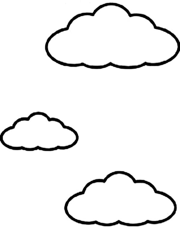 Line Drawing Clouds : Cloud coloring pages for kids clipart best