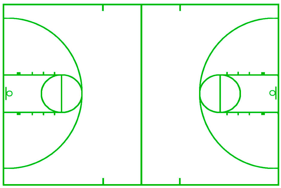 This is a picture of Geeky Printable Basketball Court