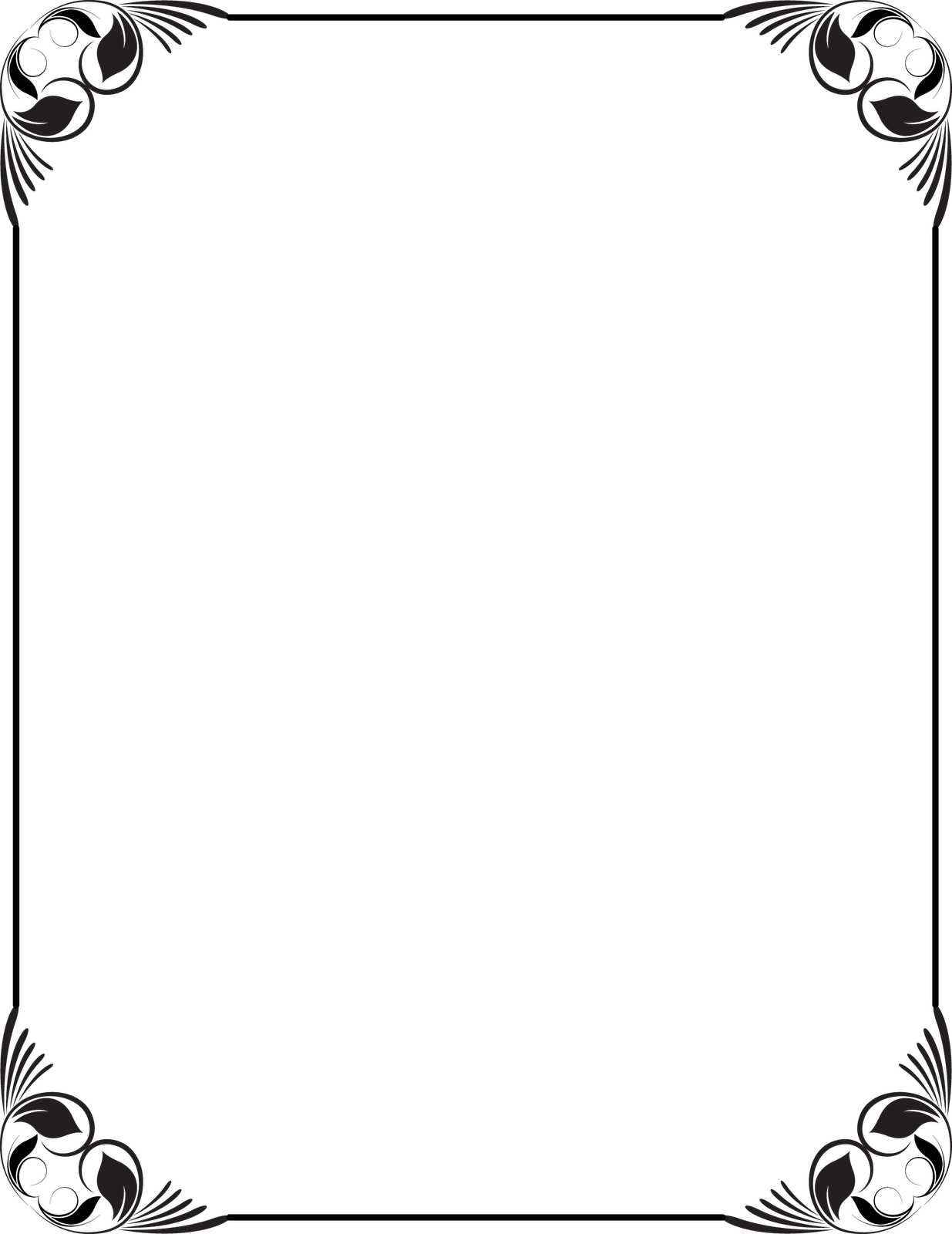 Frames And Borders Black And White Png - ClipArt Best