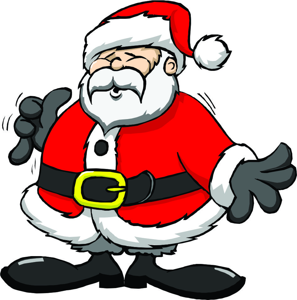 cartoon santa pictures clipart best