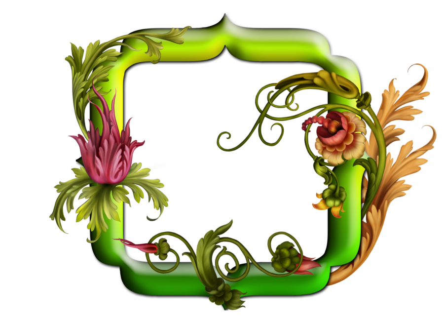 free green floral frame - photo #39