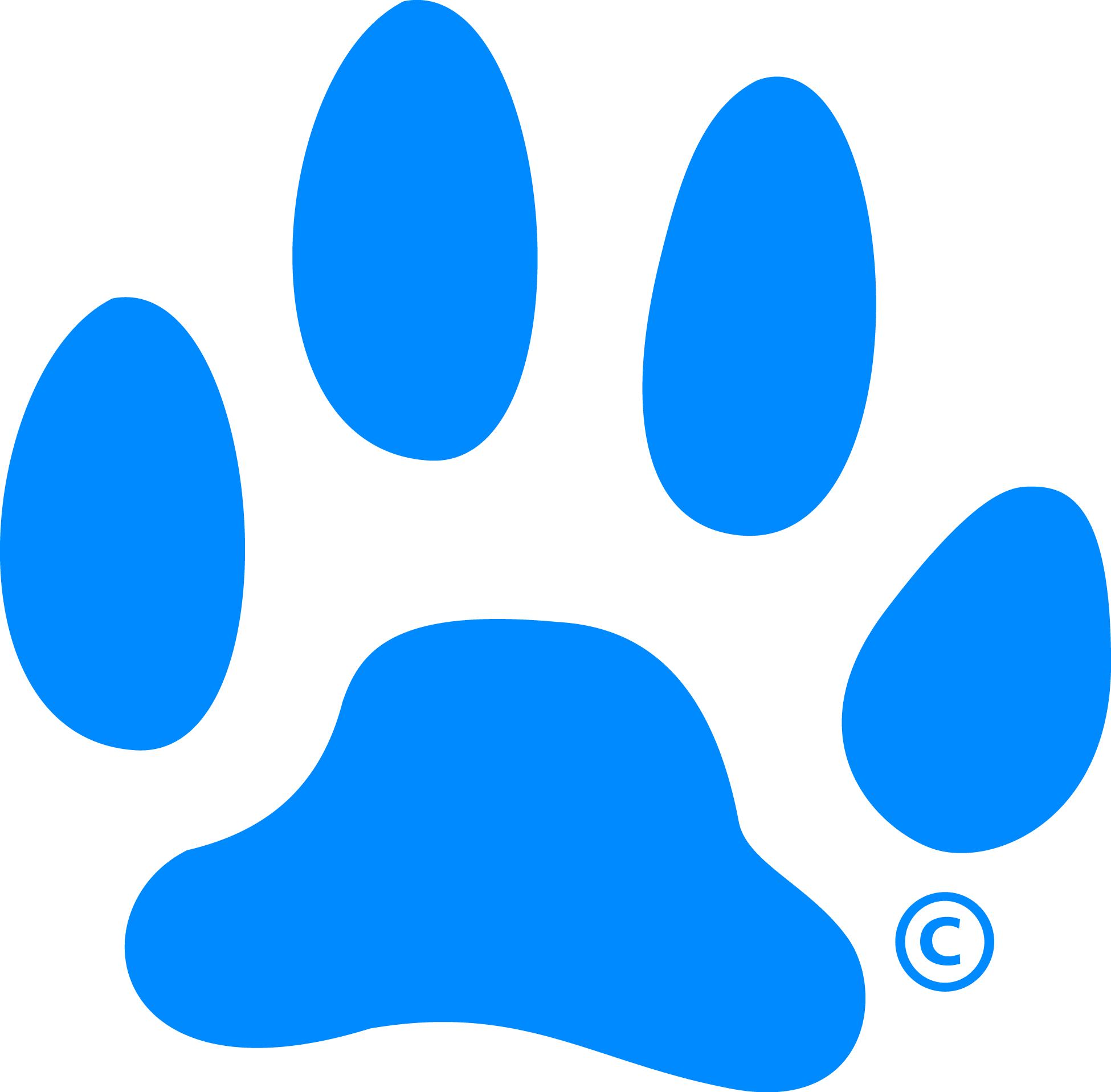 blue paw print logo clipart best