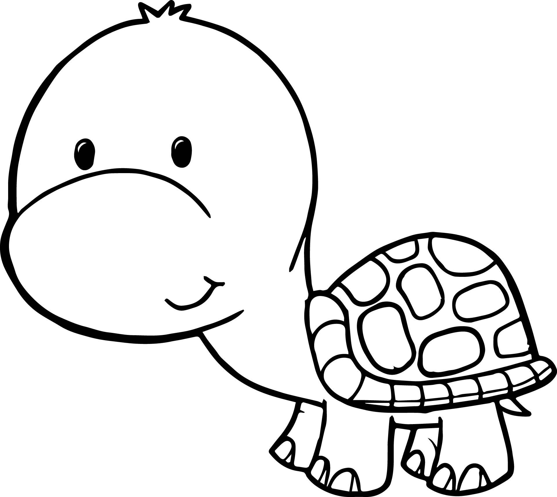 Cartoon turtle coloring pages ocean cartoon best free for Turtle color
