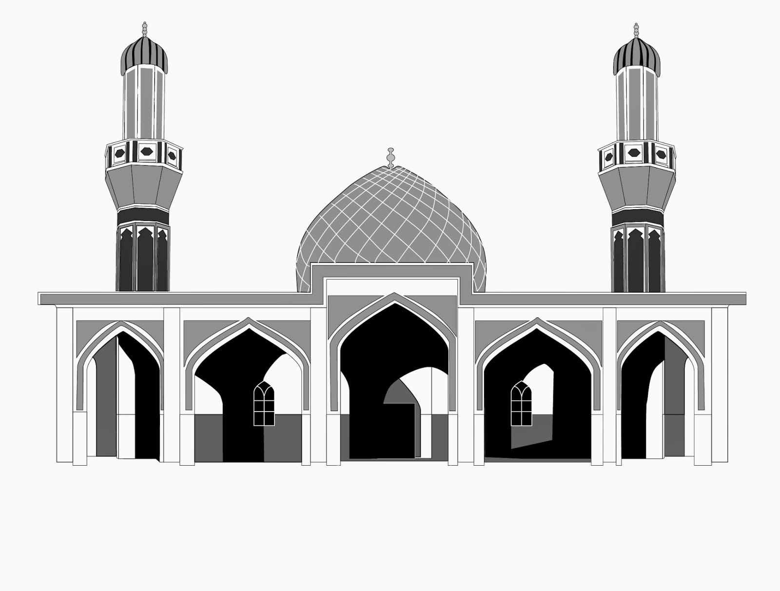 Masjid Vector - ClipArt Best