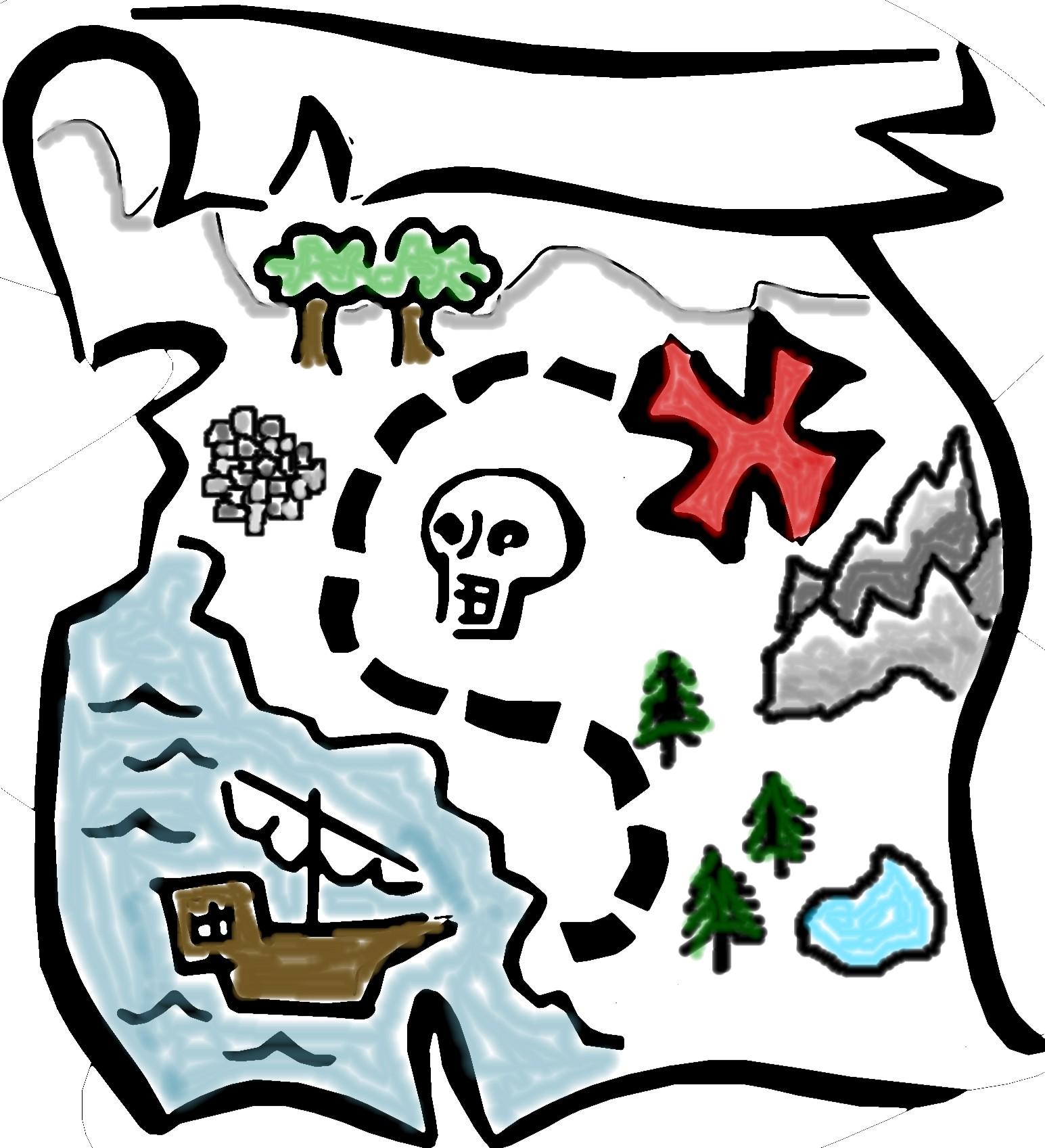 Cartoon Treasure Map - ClipArt Best