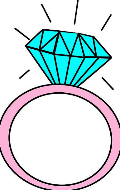 Engagement Rings Cartoon Picture
