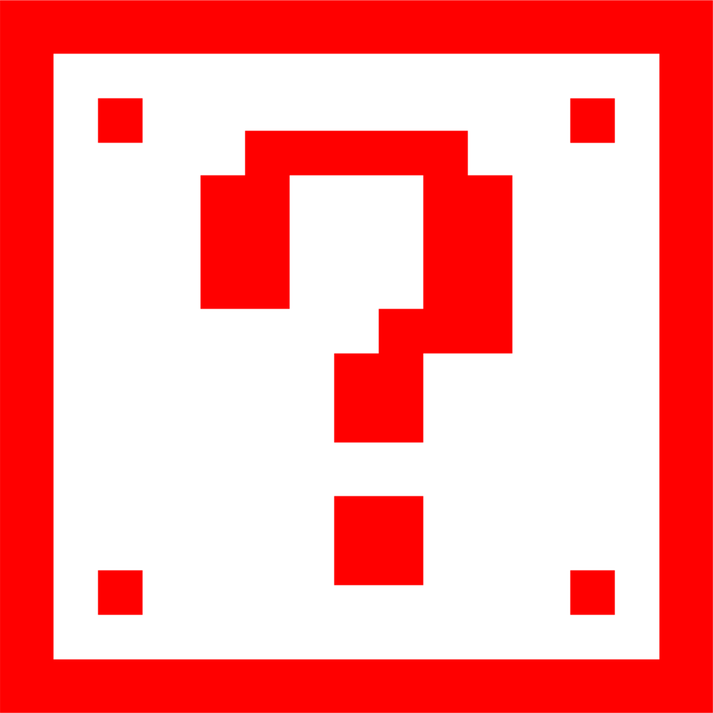 Super Mario Question Mark Box – Red Dirt Decals