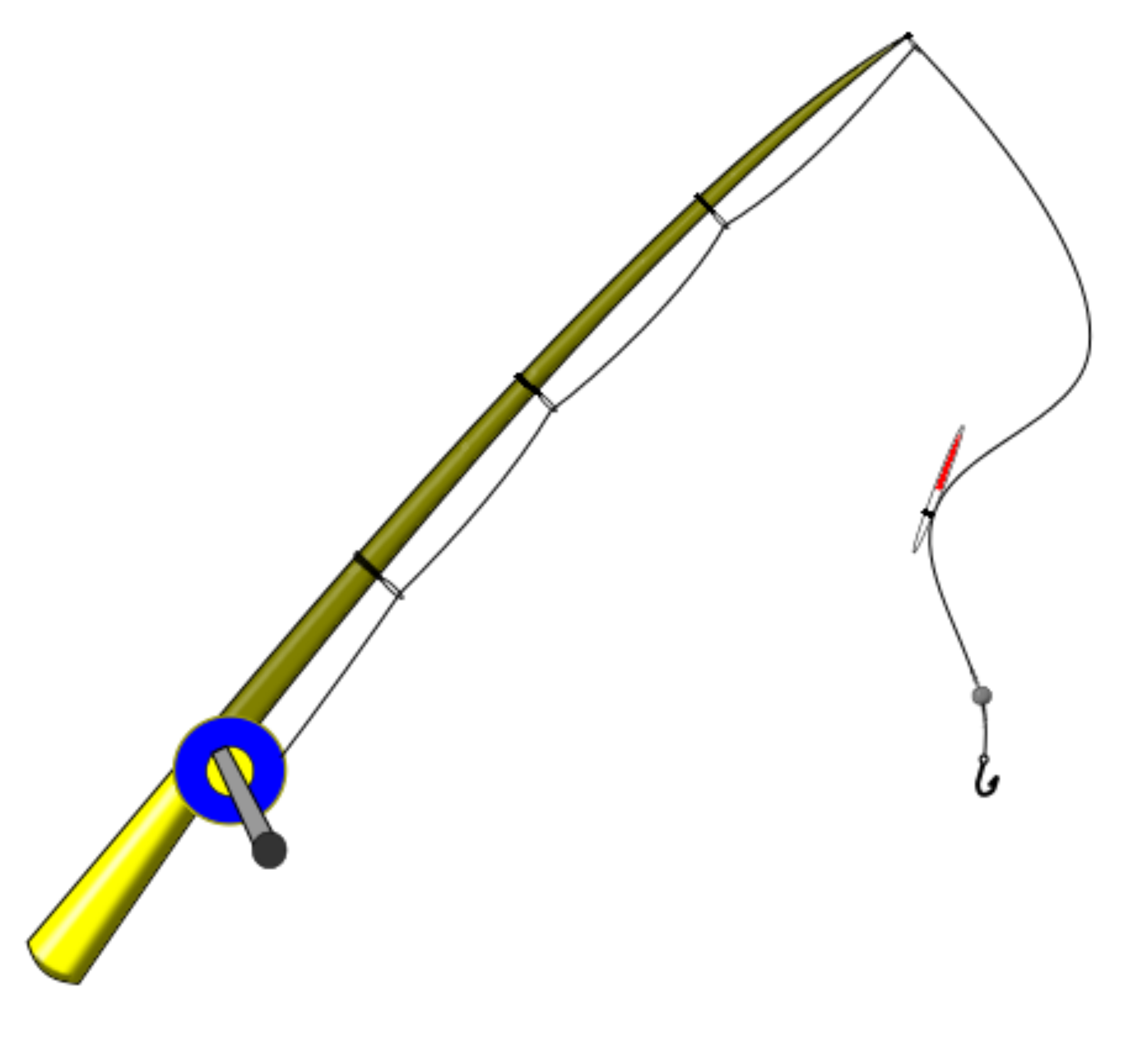 Picture of fishing pole clipart best for Best fishing line for bass