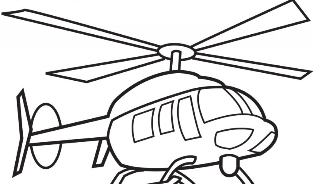 Black Hawk Helicopter coloring page  Free Printable