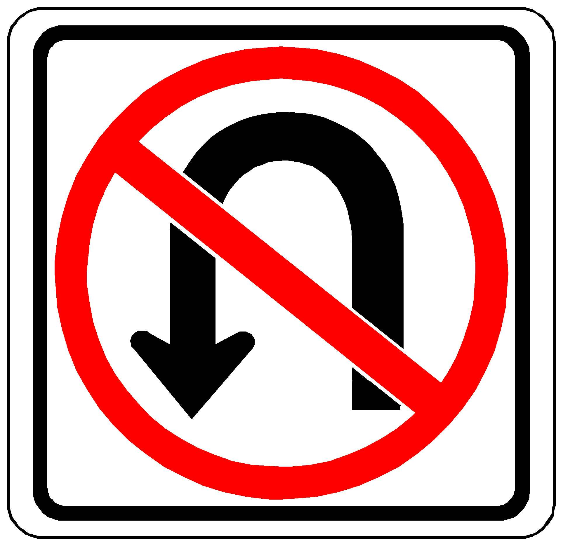 no u turn signs clipart best