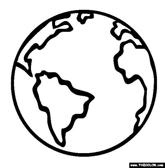 Картинки раскраска земля