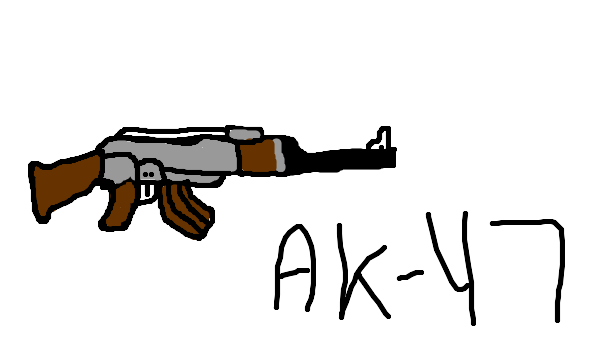 how to draw a cartoon ak 47
