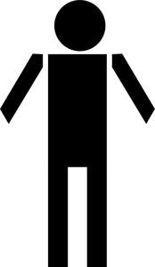 Male Clipart Image - Black and white bathroom symbol for the men's ...