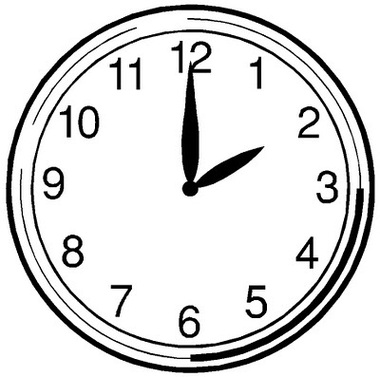 Analog Clock Template - ClipArt Best