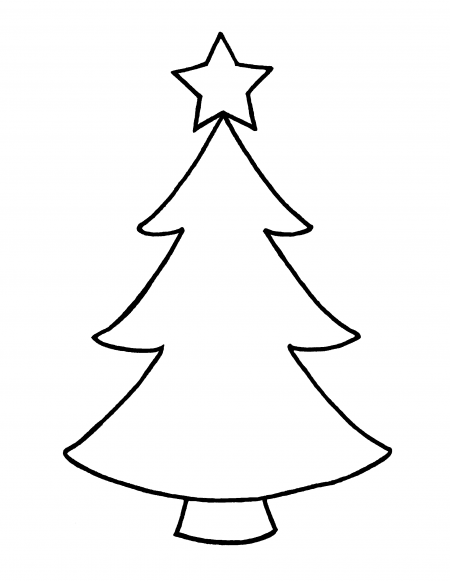 Christmas star outline clipart best