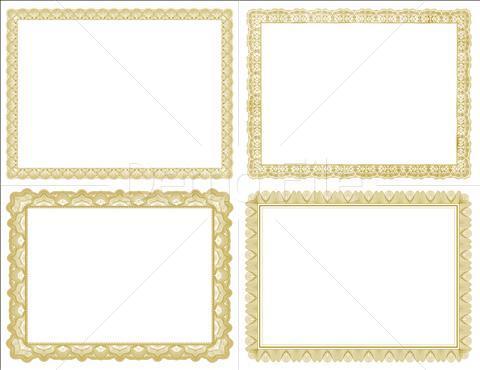 Gold Certificate Template - ClipArt Best