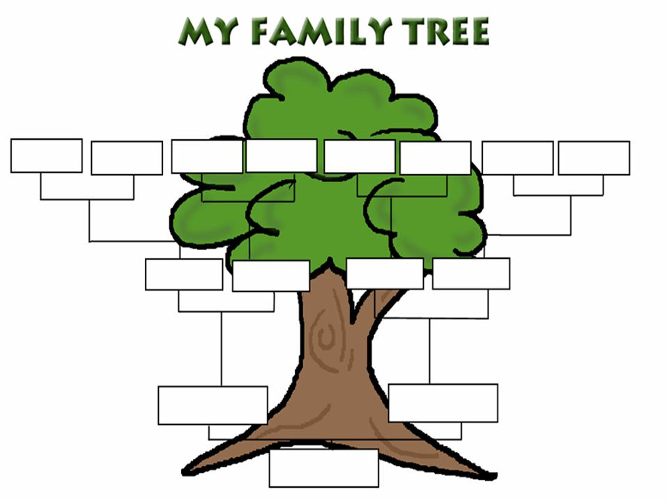Printable fill in family tree clipart best for Fill in the blank family tree template