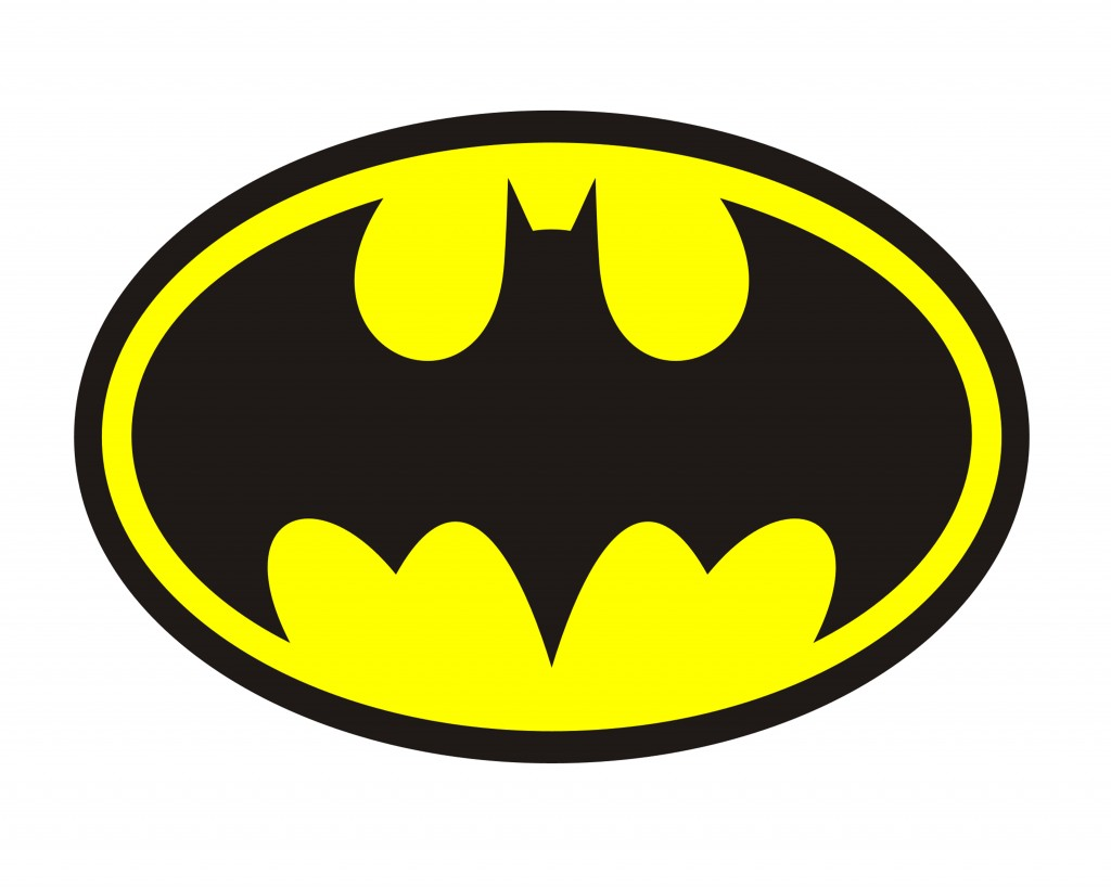 Simplicity image within printable batman logo