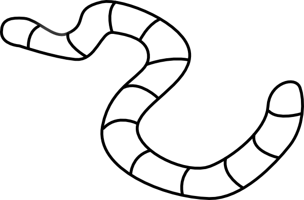 Clipart Apple Worm