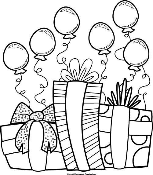 free black and white party clip art - photo #3