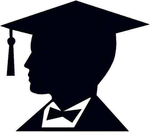 mini graduation cap and gown mortar board clipart
