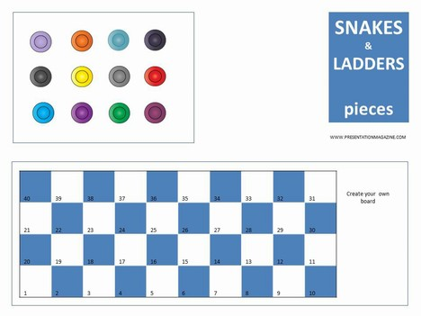 Snakes and Ladders Board Game PowerPoint Template