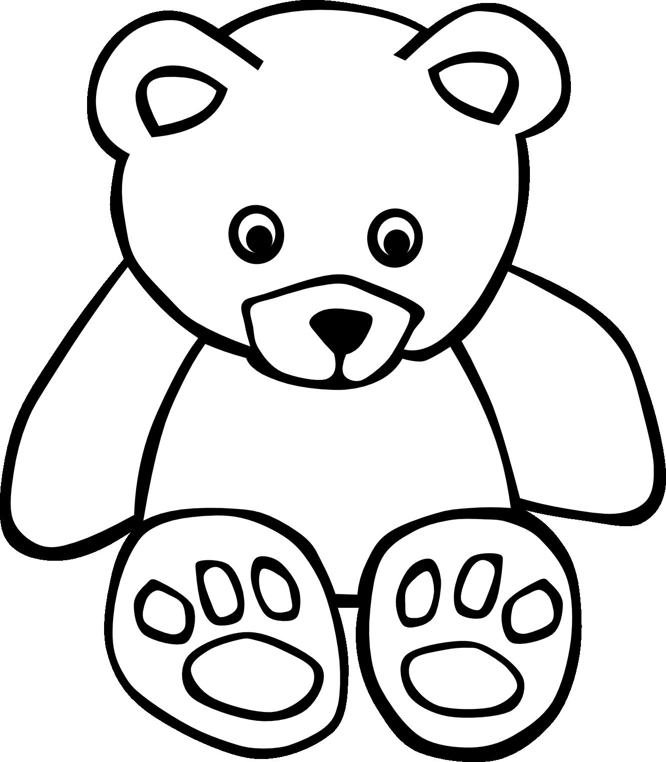 white teddy bear clip art - photo #3
