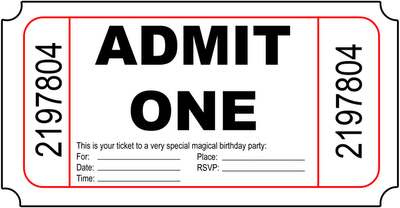 admit one ticket template