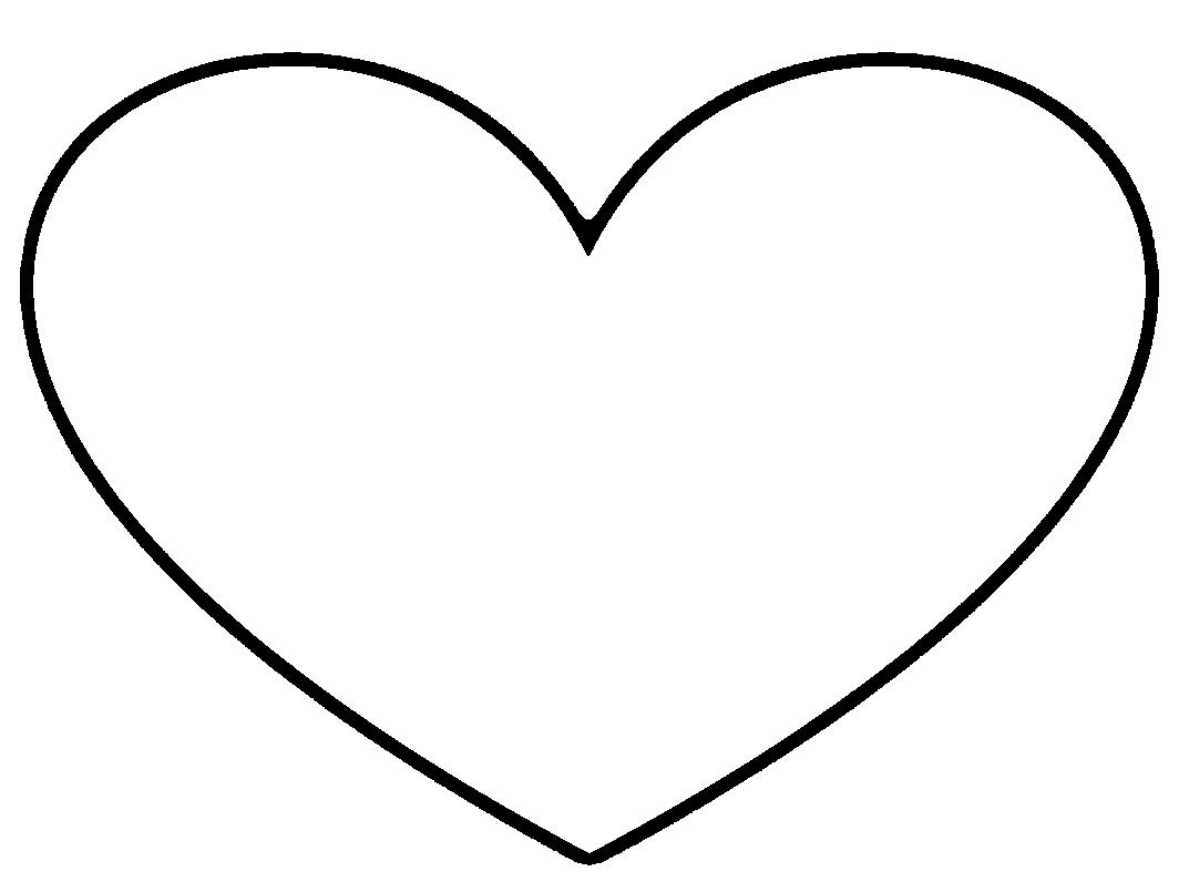 Free Heart Quilting Stencils : Heart Template - ClipArt Best
