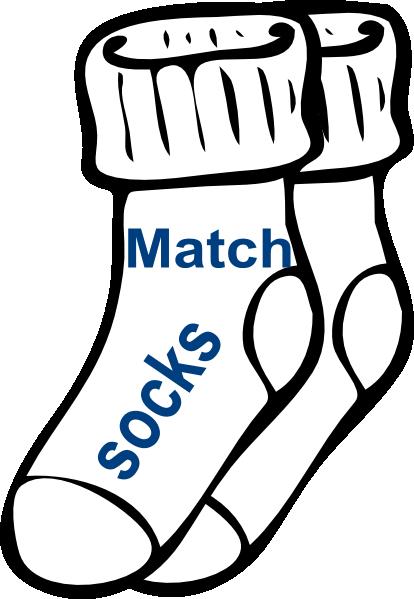 Chore: Match Socks clip art - vector clip art online, royalty free ...