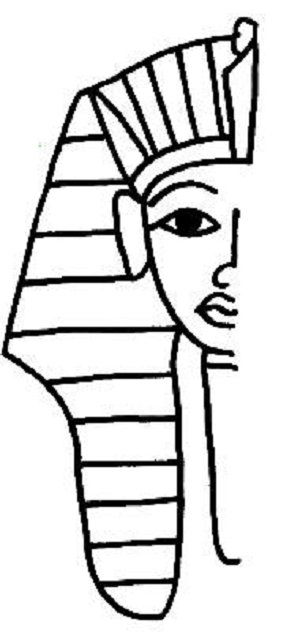 How to draw king tut clipart best for King tut coloring pages