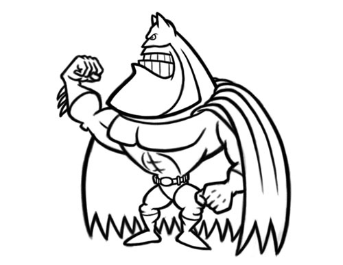 Xterm Line Drawing Characters : Funny cartoon character drawings clipart best