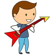 Cartoon Guitar Player - ClipArt Best