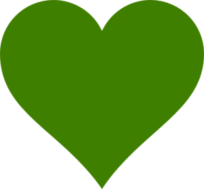 green hearts clipart best heart vector image heart vector all free download