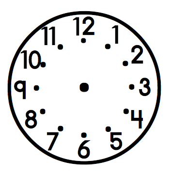 blank analog clock clip art - photo #9
