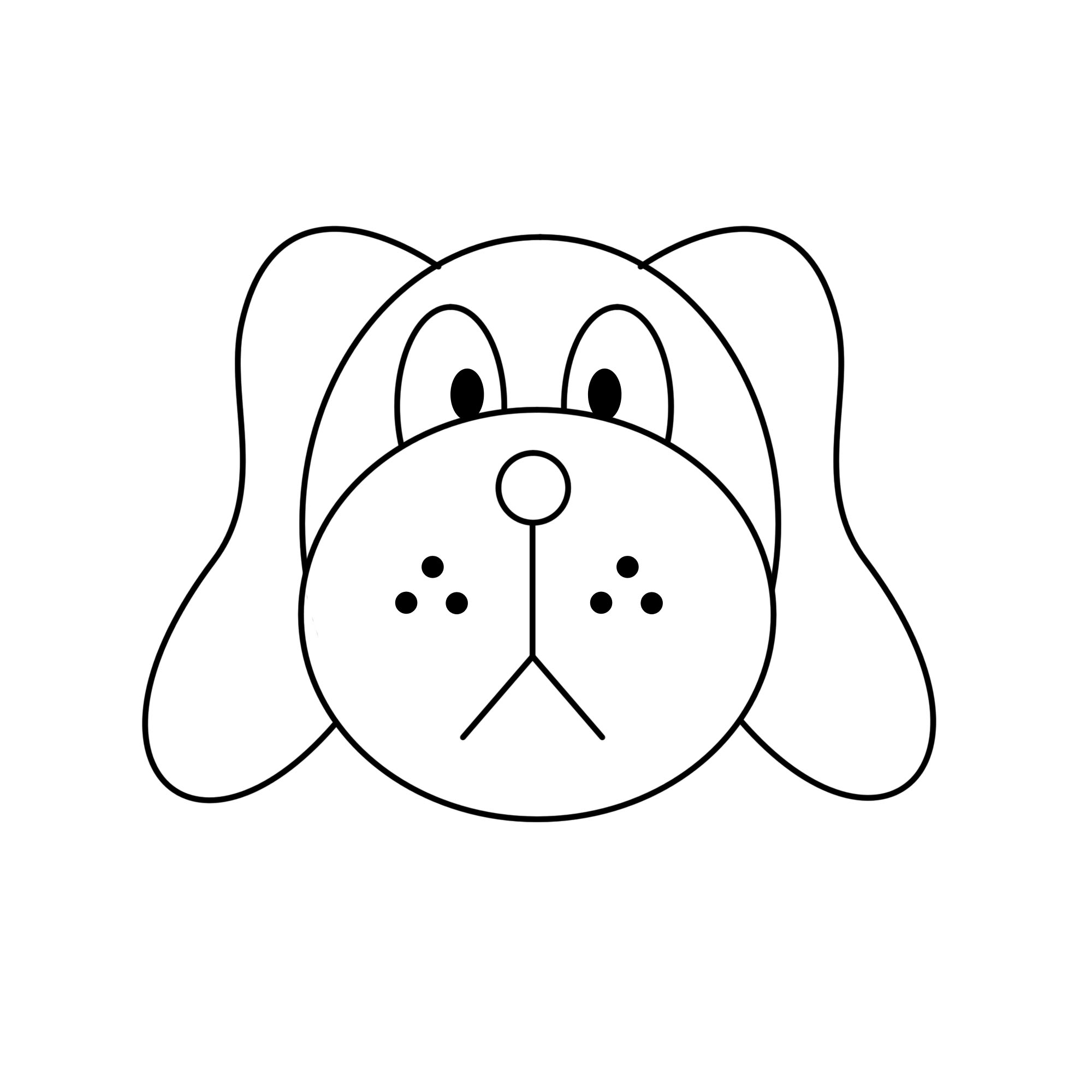 How to draw a dog face easy clipart best for Best drawings to draw