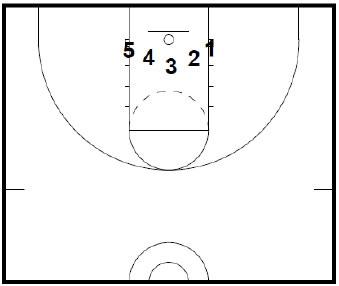 Basketball half court diagram clipart best for Half basketball court diagram