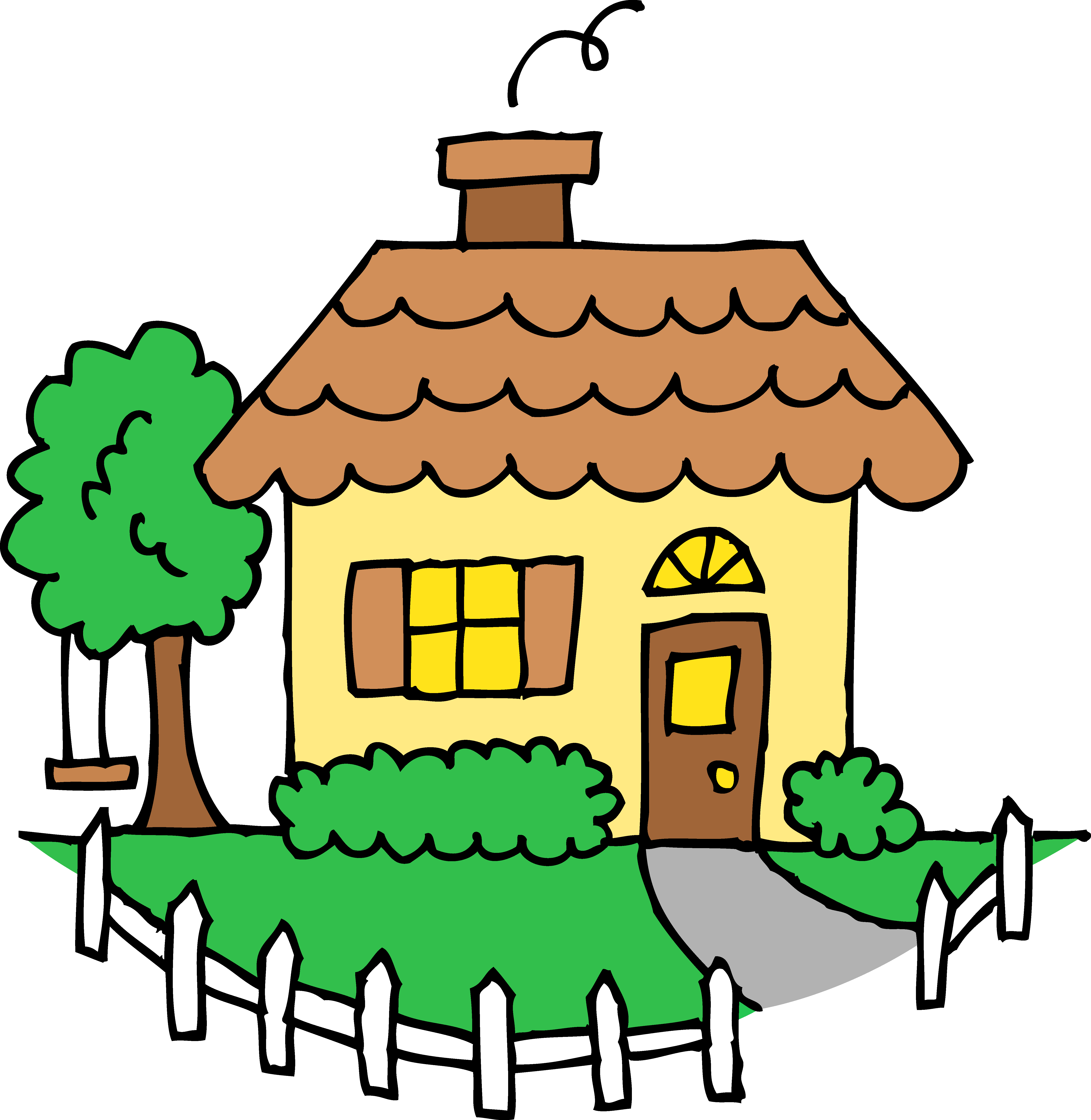 Clip Art Of House - Tumundografico