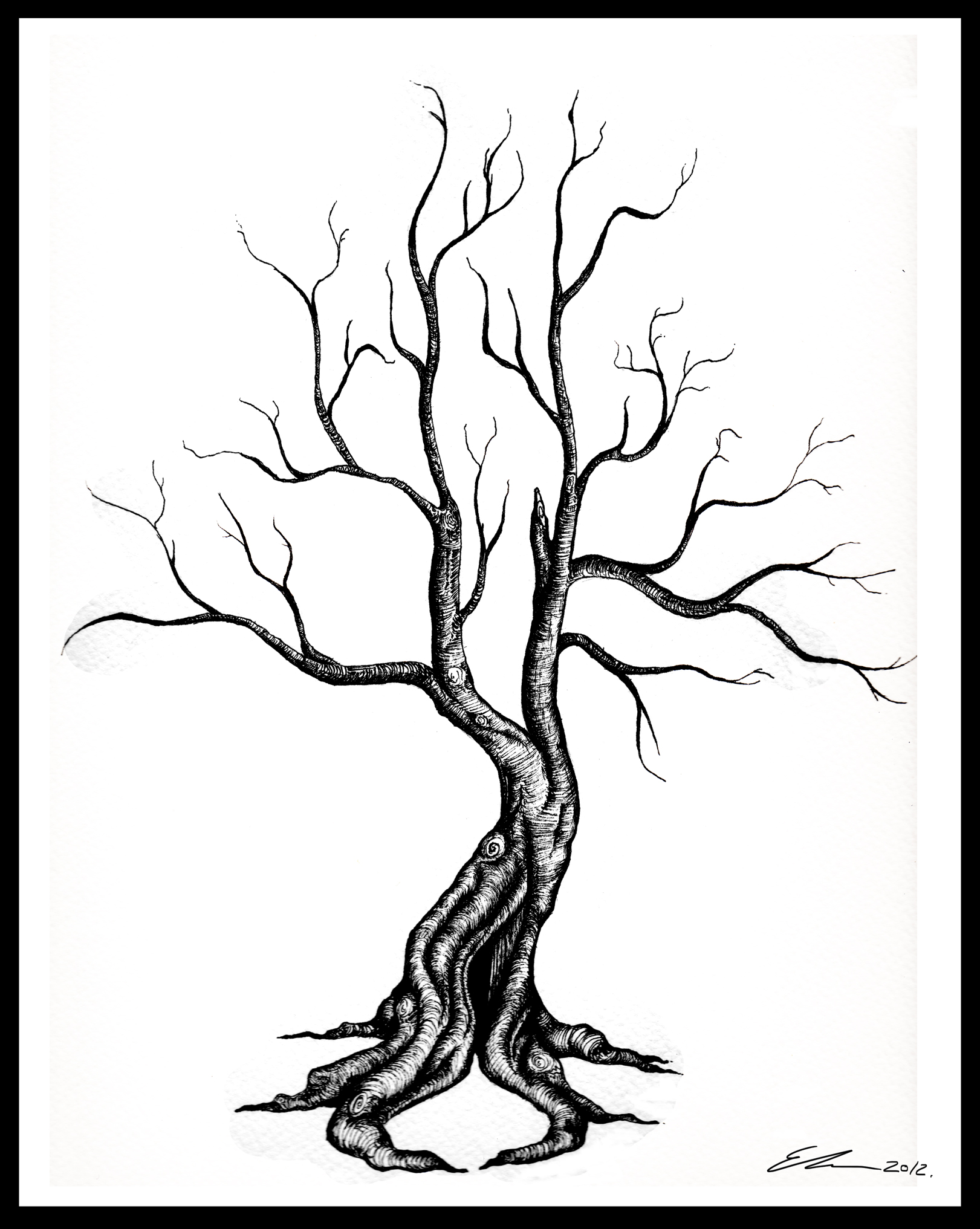 Dead tree drawing clipart best for Best tree drawing