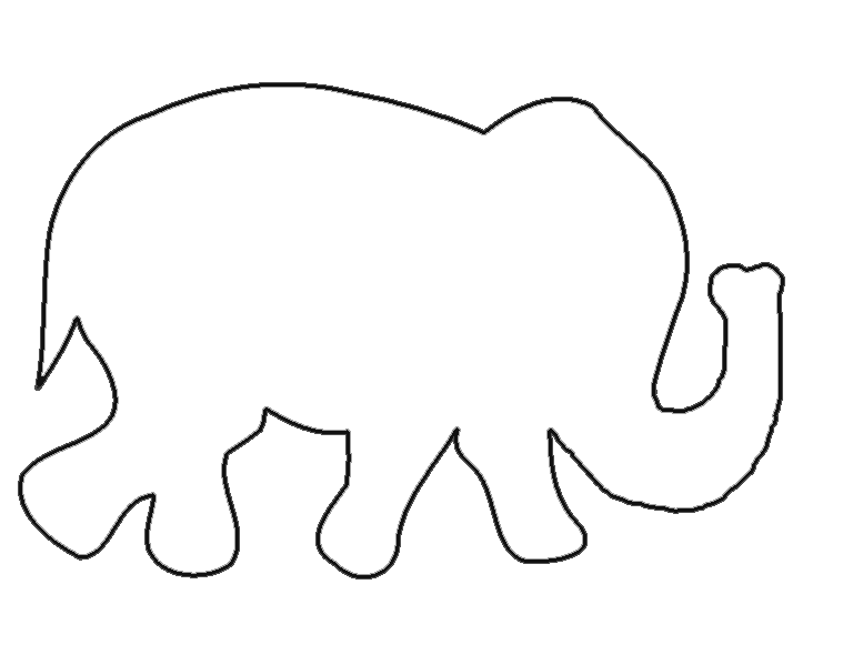 Elephant Pictures To Trace - ClipArt Best
