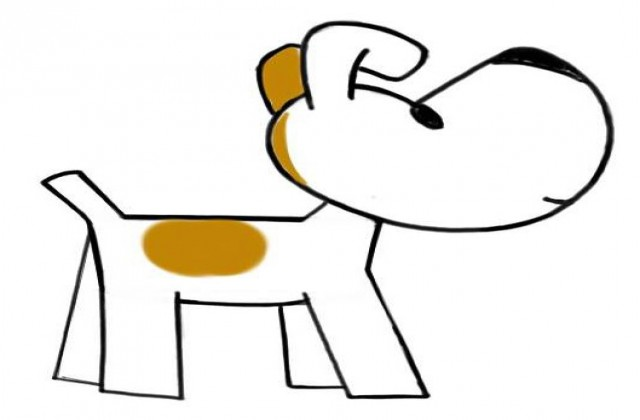 how to draw a simple cartoon dog