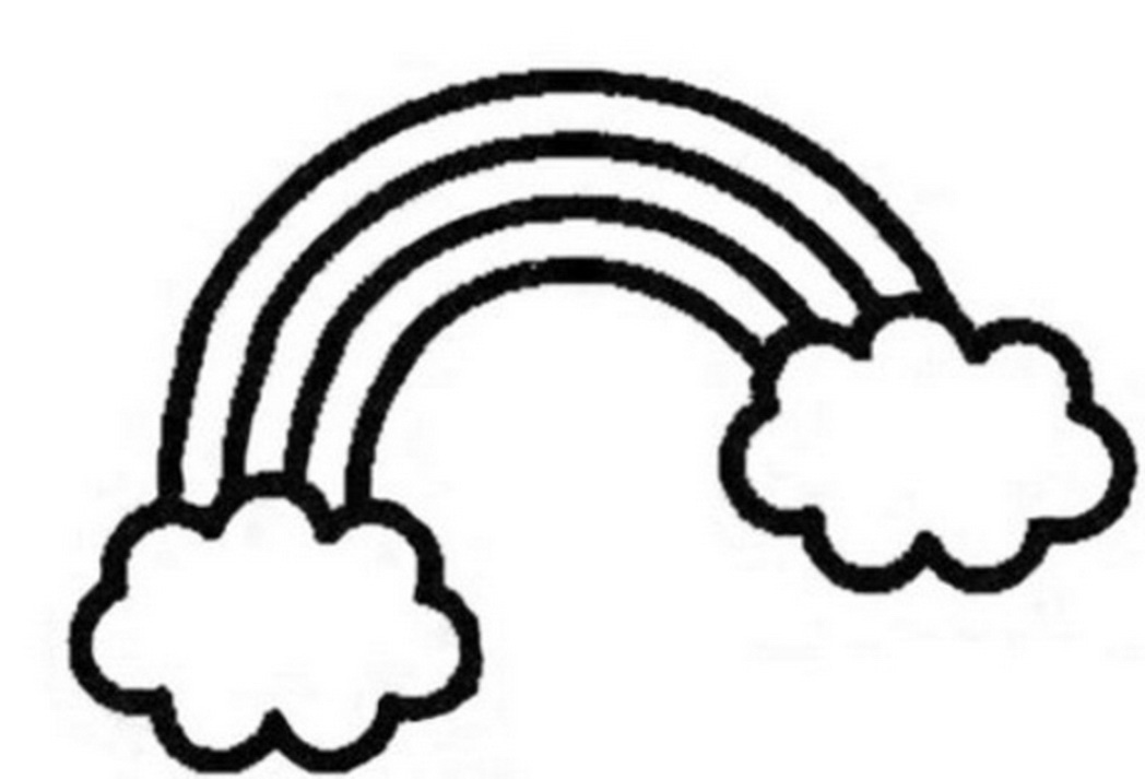 coloring pages rainbows fun color page - Coloring Page Rainbow Clouds