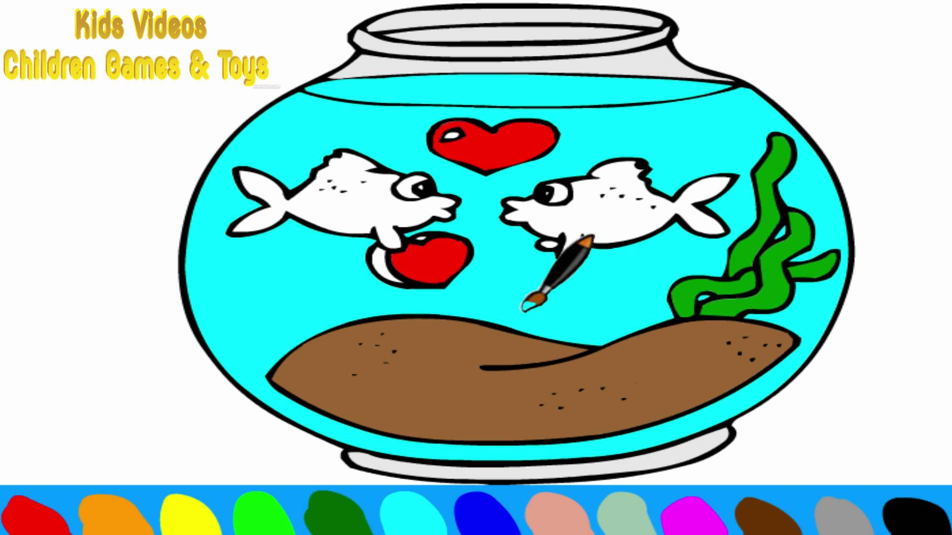 Fish bowl coloring page clipart best for Best fish for fish bowl