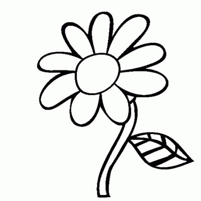 Gambar Bunga Hitam Putih Clipart Best