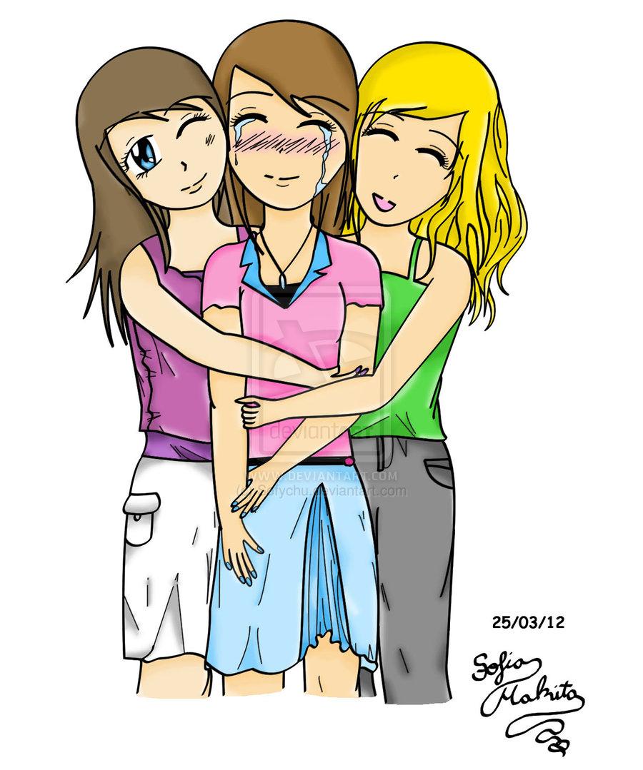 Bff Pictures Cartoon Best Friends Hugging C...